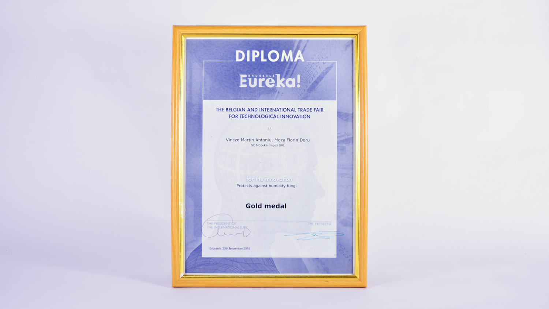 Medalia de aur pentru Inovație Eureka! Brussels