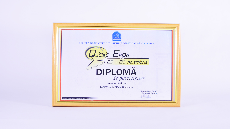 Diplomă de participare a manifestarea expozițională EXPOTEHNICA ediția VII-a