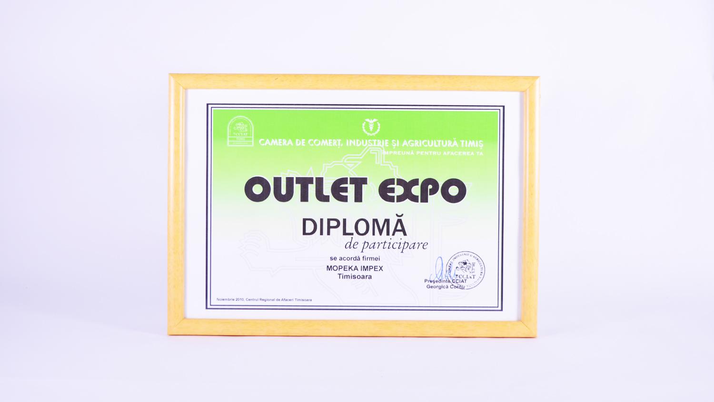 Diplomă de participare Expo Centrul Regional de Afaceri Timișoara