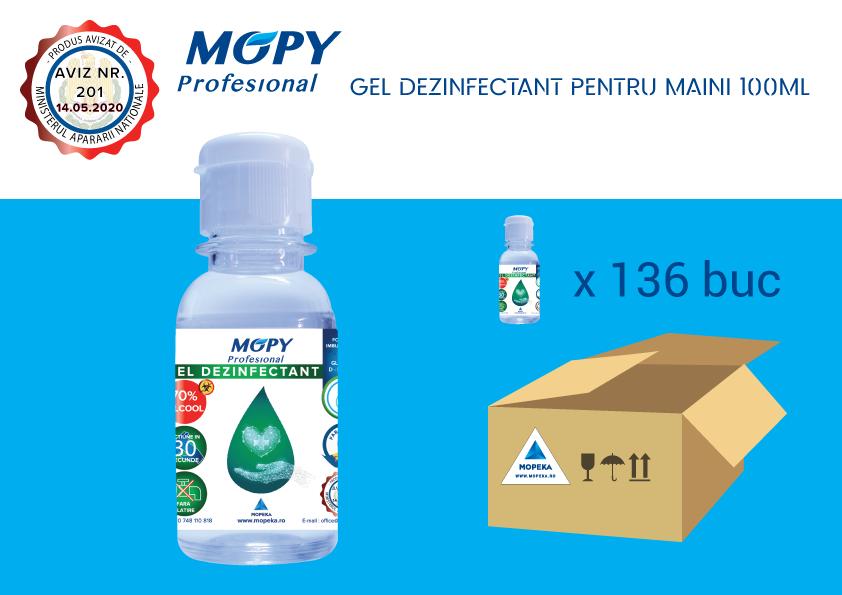 Gel Dezinfectant – cutie cu 136 buc. Avizat